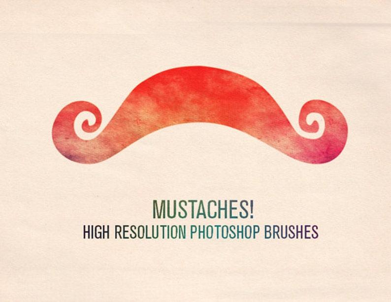 Mustaches / 7 Photoshop Brushes