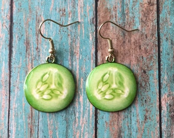 Cute cucumber earrings
