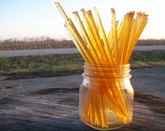 Honey Sticks -Pure Summer Honey - 25 honey filled straws, honeysticks