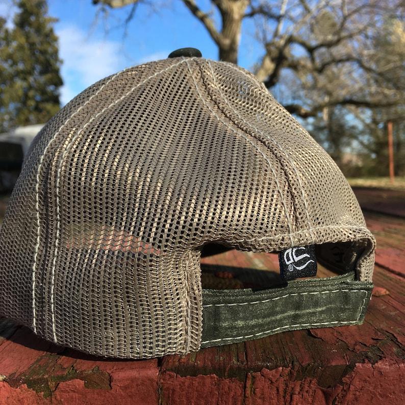 761f97852f9b32 Honeyrun Farm Hat unstructured olive green trucker cap | Etsy