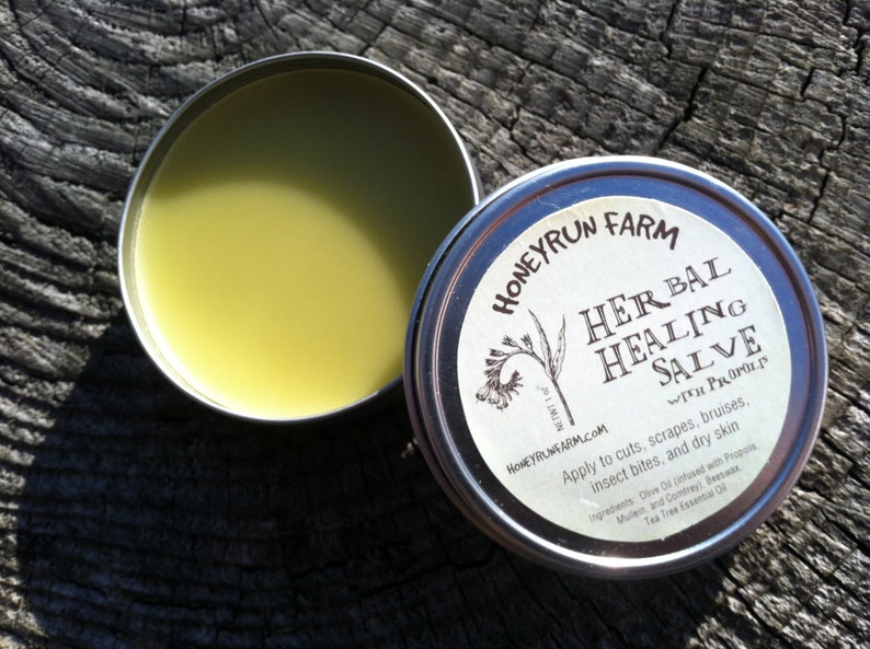 Herbal Propolis Salve  Beeswax Salve made with propolis and image 0