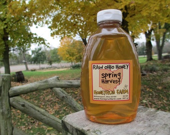 Pure Raw Spring Honey - 32 ounce jar -  nectar from Black Locust, Honeysuckle, Autumn Olive