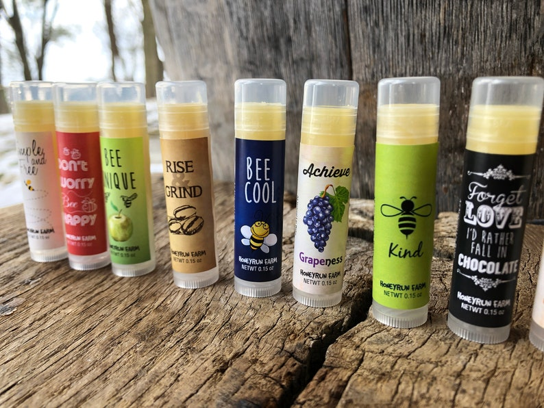 Beeswax Lip Balm all natural pick from 12 assorted flavors image 0