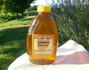 Raw Honey - Ohio Summer Harvest - 32 ounce jar