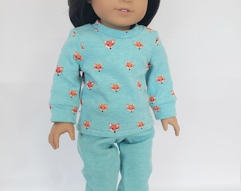 18 inch Doll Clothes fits American Girl; Knit PJs