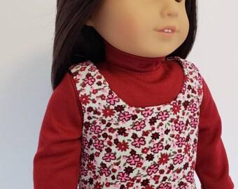Jumper fits American Girl Doll; Corduroy Jumper for 18 inch dolls