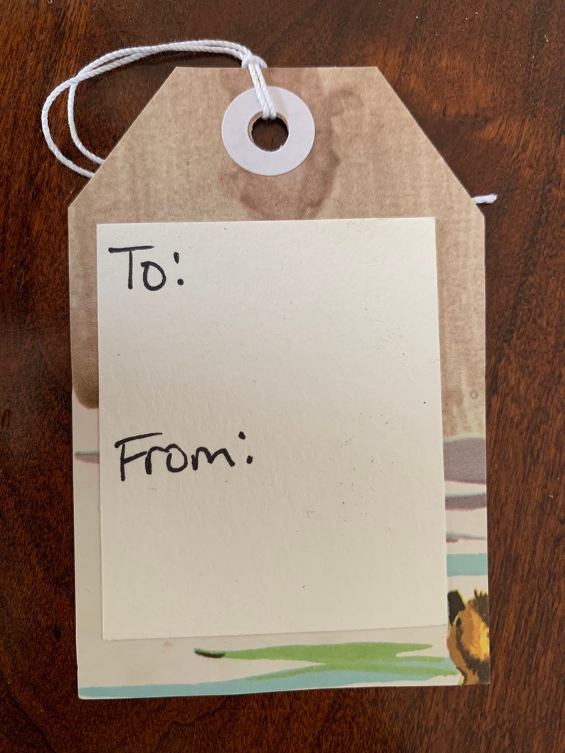 Ducklings Upcycled Gift tags