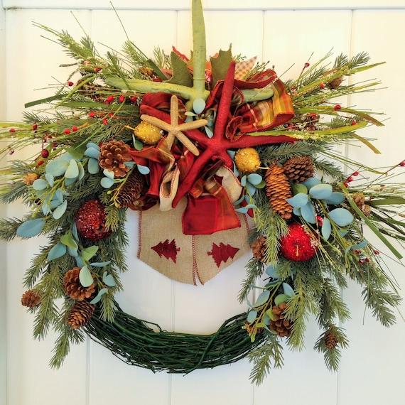 image 0 - Beach Christmas Wreath