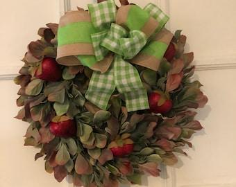 Strawberry Wreath-Strawberries-Summer Wreath-Small Wreath-Berry Decoration-Outdoor Wreath-Condo Wreath-Country Wreath-Farm Wreath