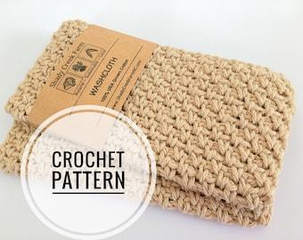 Crochet Pattern - Dishcloth Crochet Pattern - Moss Stitch Washcloth Crochet Pattern - Dish Cloth Wash cloth Pattern Beginner Crochet Pattern