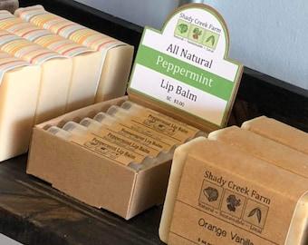 Lip Balm set of 4 - Lip Butter, Lavender Wedding Favors Lip Gloss, Mint Chapstick - Mint Lip Balm - Orange Clove lip balm - Shady Creek Farm