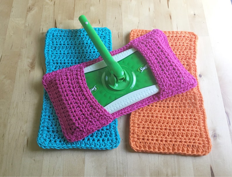 Sweeper Cover 3pk  Reusable Swifter Cover Crochet Sweeper Pad image 0