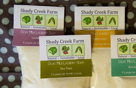 Goat Milk Laundry Soap Trial Size 7-14 loads Your Choice   Etsy
