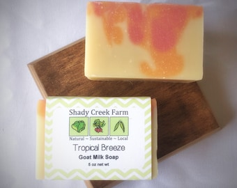 Tropical Breeze Soap Goat Milk Soap All Natural Soap Gift Handmade Soap Essential Oil Soap Cold Process Soap Gift for women