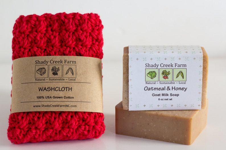Christmas Gift Soap and Washcloth Gift Set Gift for women image 0