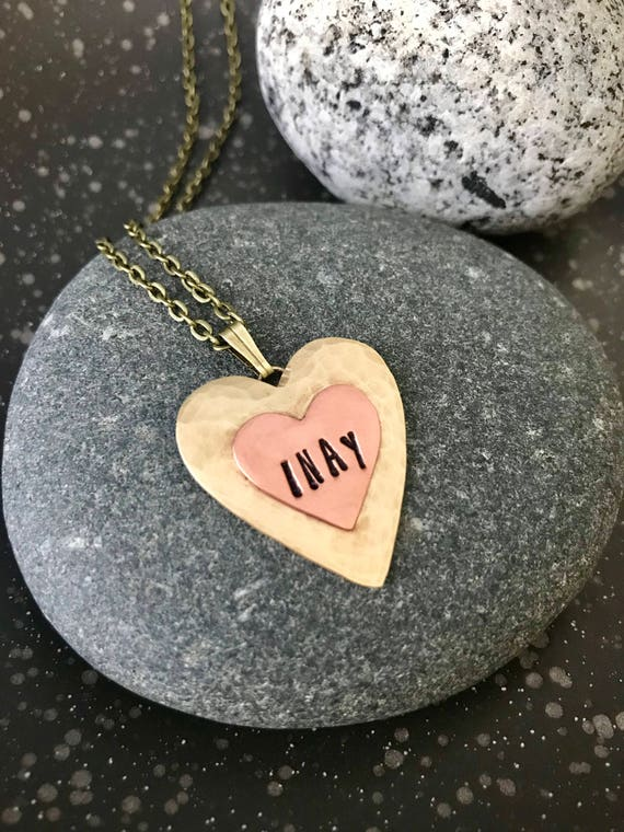 INAY Heart Pendant Necklace Philippines Filipino Tagalog