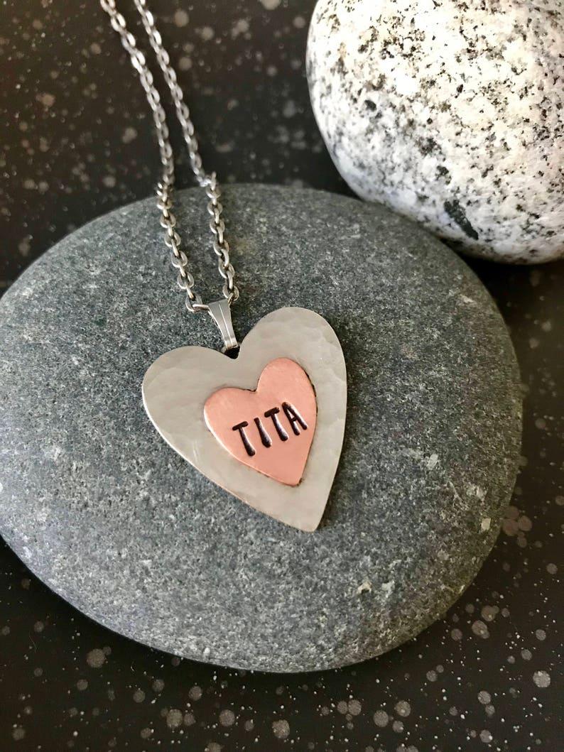TITA Heart Pendant Necklace Philippines Filipino Tagalog
