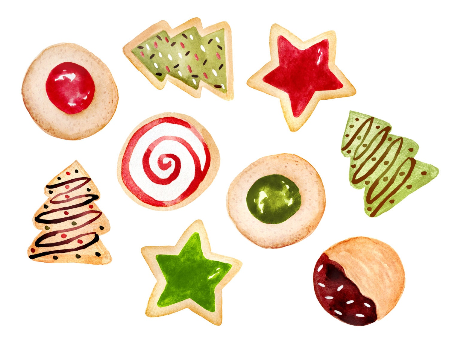Christmas clipart christmas cookies clipart cookies clipart   Etsy