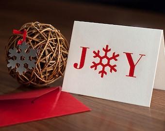 Joy Letterpressed Card & Ornament