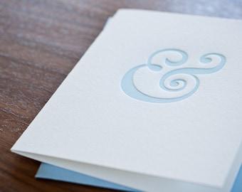 "Letterpressed ""&"" Card"