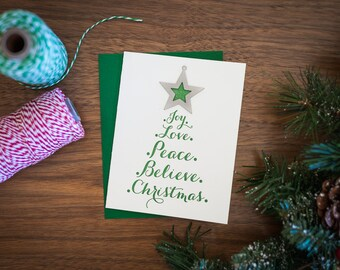 Tree Letterpressed Card & Ornament