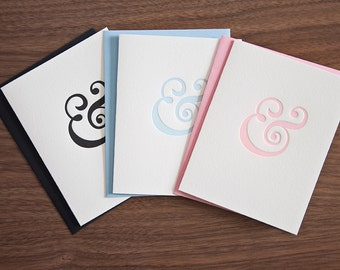 """Letterpressed """"&"""" Cards - Set of 3"""