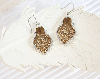 Marsala Wedding Earrings, Rustic Wedding, Bridal Earrings, Bridesmaid Earrings, Boho Chic Wedding, Sparkle Earrings, Teardrop Bride Earrings
