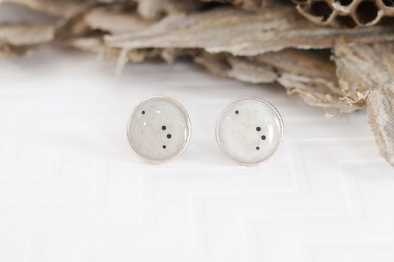 Christmas gift or Birthday Gift for Her. perfect Bridesmaid Gifts Aries zodiac earrings