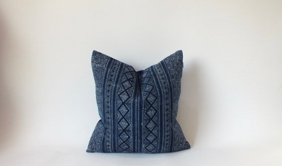 Pillowcase Indigo Batik Pattern Hmong