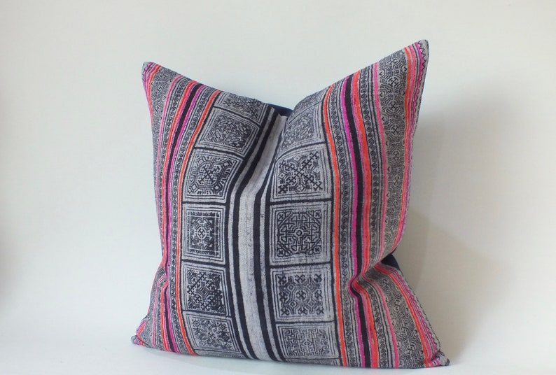 Hmong Pillow Vintage Hemp cushion cover