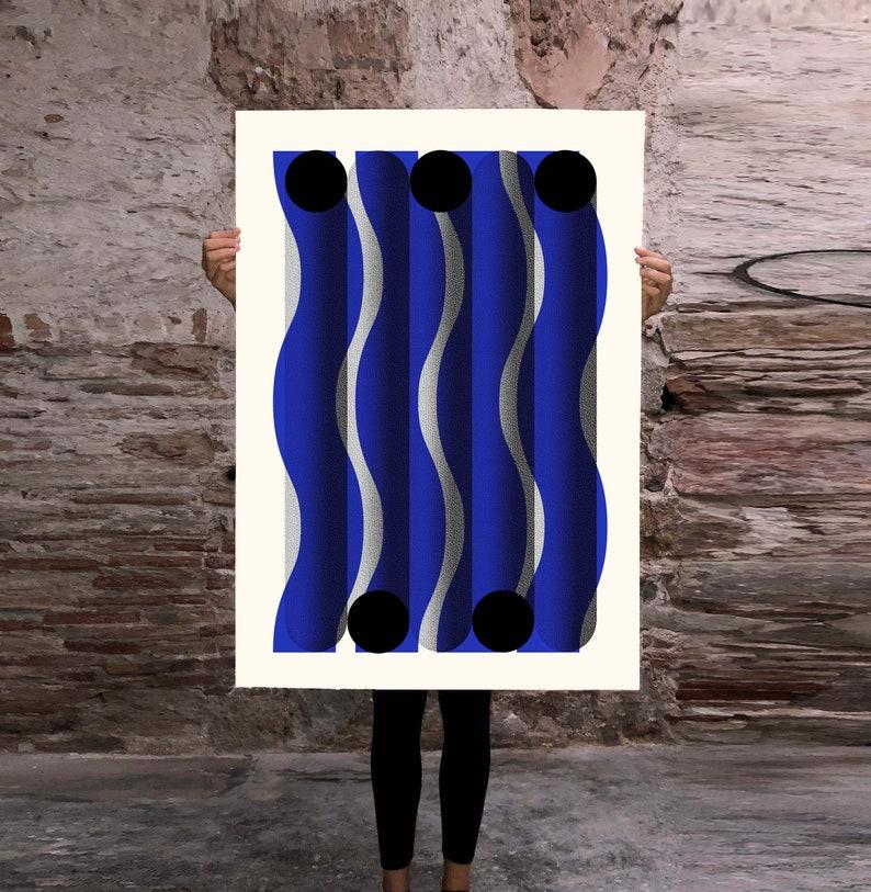 WAVY TUBES, limited edition screenprint