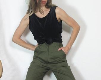 08857a46f01ba Vintage 90s Tank Shell J Jill Velvet Stetchy Top m l