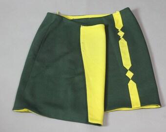 f82fbcfcc8 Vintage Gianni Versace Couture Mod Mini Skirt