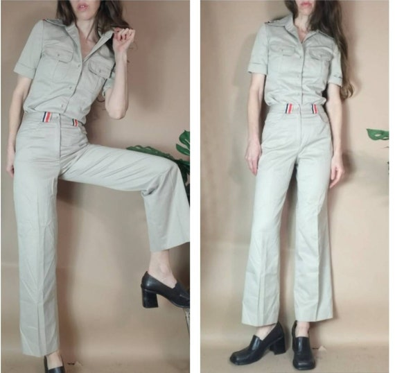 Vintage 80s 90s Pant Suit Jones New York Khaki To… - image 5