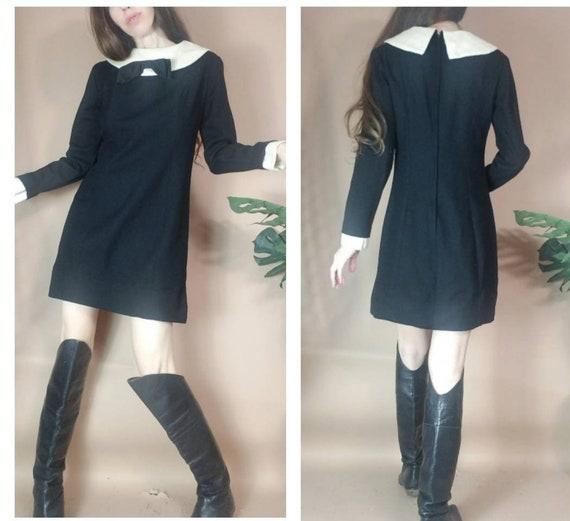 Vintage 60s Mod Mini Dress xs s
