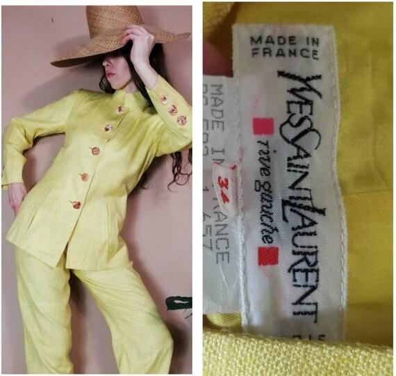 Vintage YSL 80s Yves Saint Laurent Pant Suit Set x