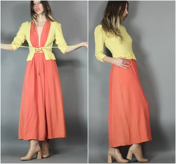 Vintage 30s 40s Dress Dreamy Robert Rosenfeld Lace