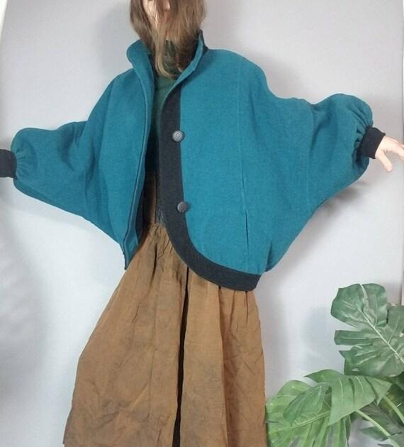 Avant Garde Batwing Sleeve Coat