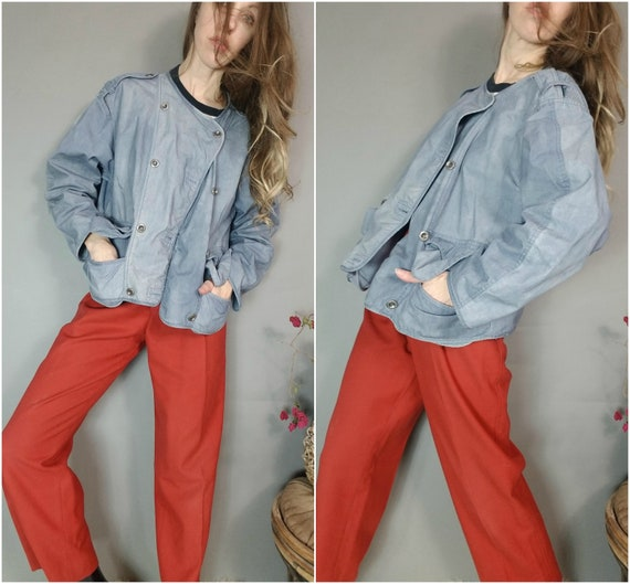 a9a7c0bce1 Vintage 80s 90s Jacket In Wear New Forces by Kirsten Teisner