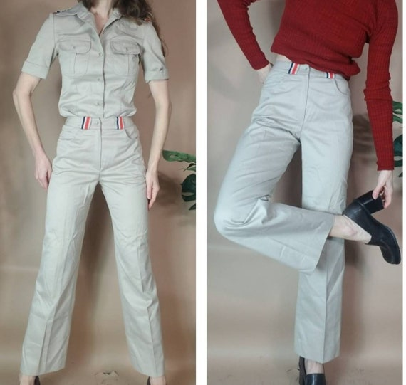 Vintage 80s 90s Pant Suit Jones New York Khaki To… - image 4
