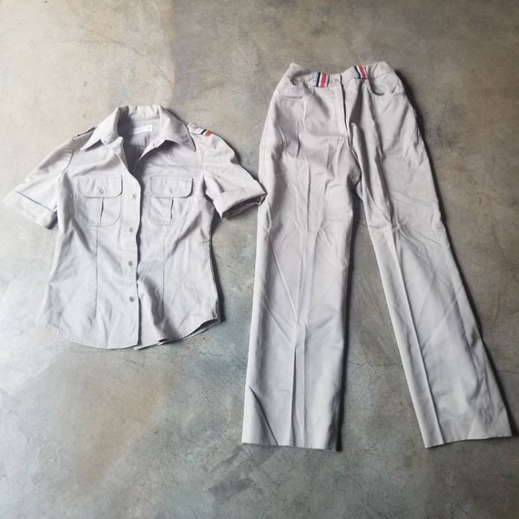 Vintage 80s 90s Pant Suit Jones New York Khaki To… - image 7