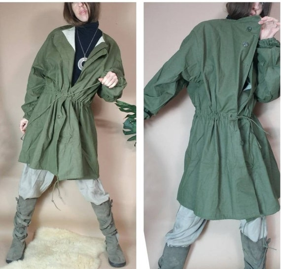 Vintage Army Coat Green Mens Military Lightweight