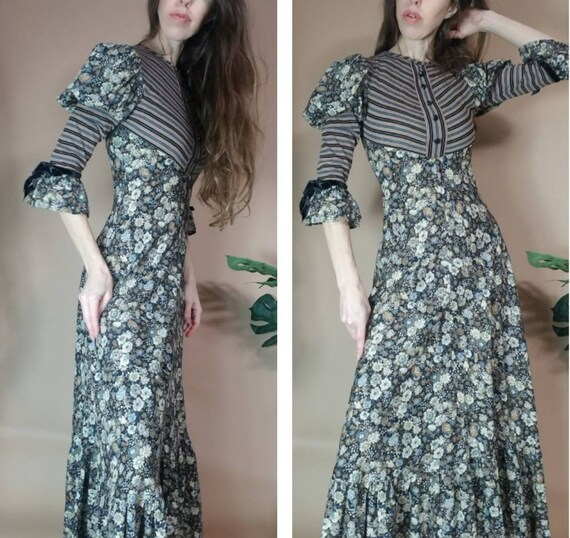 Vintage 70s Fratini Designs Dress Gina Fratini Boh