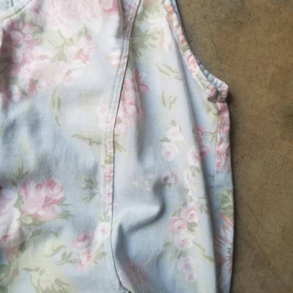 Vintage 80s 90s Laura Ashley Jumpsuit Pale Floral… - image 7