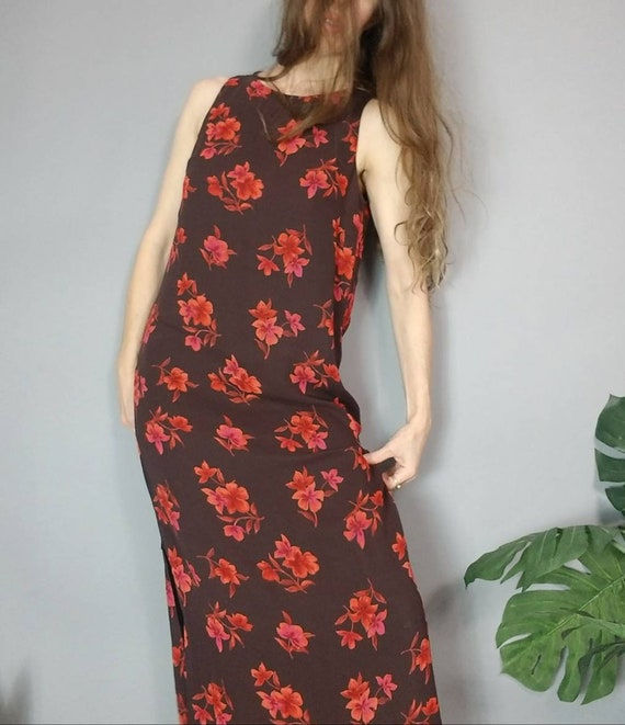 Vintage 90s Laura Ashley Silk Dress Floral s - image 5