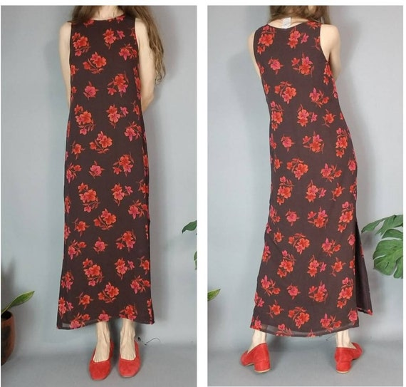 Vintage 90s Laura Ashley Silk Dress Floral s - image 2