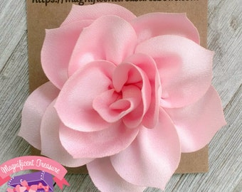 Pink flower hair etsy pink lotus flower hair clip large pink flower hair bow 35 toddler flower barrette pink flower clip summer flower hair clip mightylinksfo