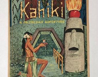 Original Kahiki Supper Club Brochure Newspaper Insert 1961 Columbus, Ohio Premier Tiki Bar Restaurant