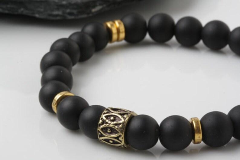Armband YogaYoga GeschenkEnergiebandMeditation Onyx Liebhaber Herren Schwarze ArmbandStretch Perlen Stein PuOXiZTk