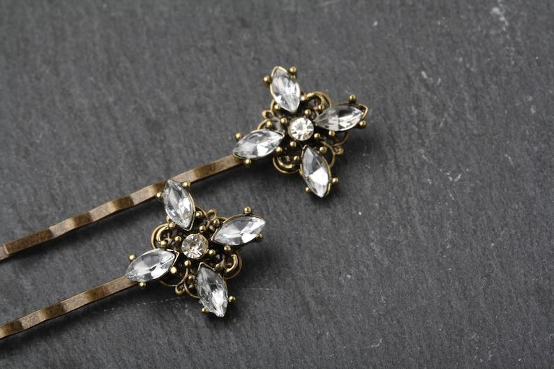 crystal hair accessories wedding hair accessories wedding hair pins Rhinestone hair pins Crystal hair pins vintage crystal hair pins